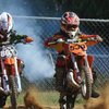 Motocross exhaust fumes